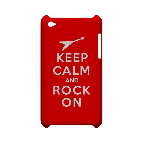 Red Rock On Geeks Designer Line Keep Calm Series Slim Hard Case for Apple iPod Touch 4