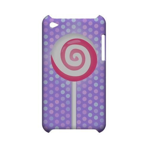 Pink Lollipop Geeks Designer Line Candy Series Slim Hard Back Cover for Apple iPod Touch 4