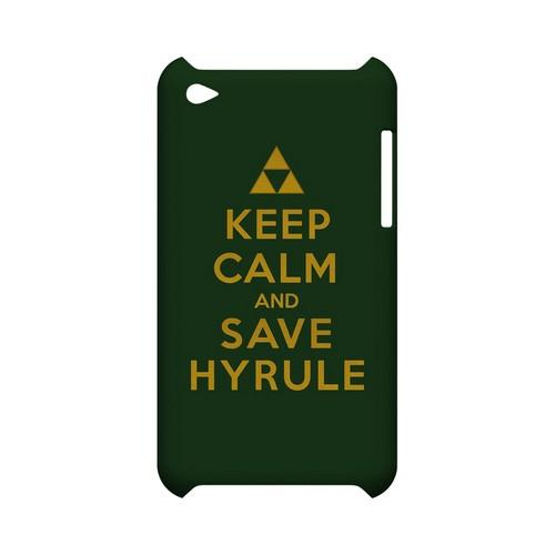 Green Save Hyrule Geeks Designer Line Keep Calm Series Slim Hard Case for Apple iPod Touch 4