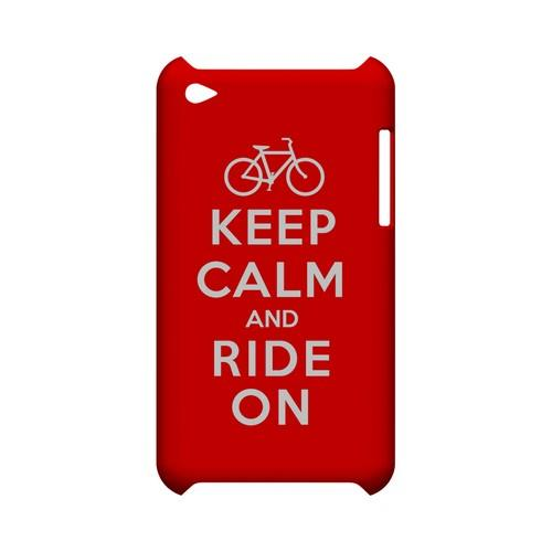 Red Ride On Geeks Designer Line Keep Calm Series Slim Hard Case for Apple iPod Touch 4