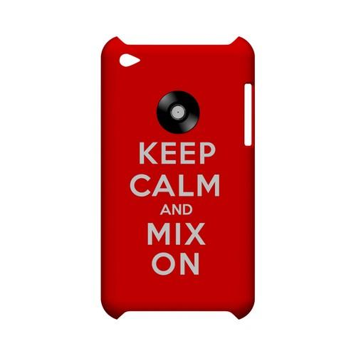 Red Mix On Geeks Designer Line Keep Calm Series Slim Hard Case for Apple iPod Touch 4