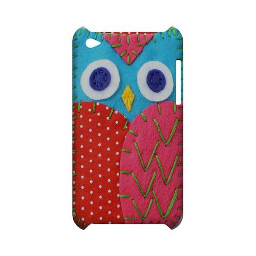 Sky Blue/ Pink Owl Geek Nation Program Exclusive Jodie Rackley Series Hard Case for Apple iPod Touch 4