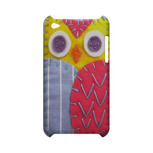 Yellow/ Pink Owl Geek Nation Program Exclusive Jodie Rackley Series Hard Case for Apple iPod Touch 4
