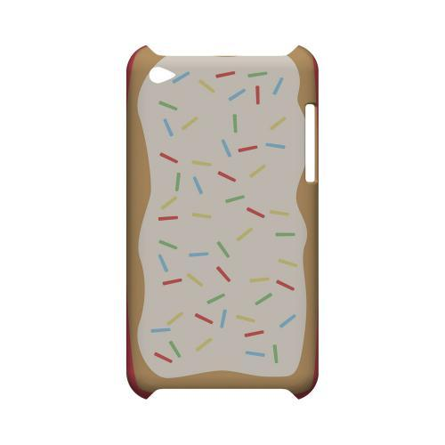 Toaster Pastry w/Sprinkles Geeks Designer Line Candy Series Slim Hard Back Cover for Apple iPod Touch 4