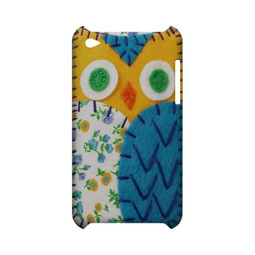 Gold/ Blue Owl Geek Nation Program Exclusive Jodie Rackley Series Hard Case for Apple iPod Touch 4