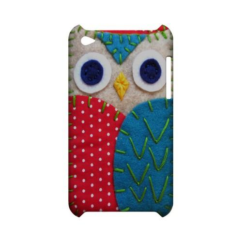 White/ Blue Owl Geek Nation Program Exclusive Jodie Rackley Series Hard Case for Apple iPod Touch 4