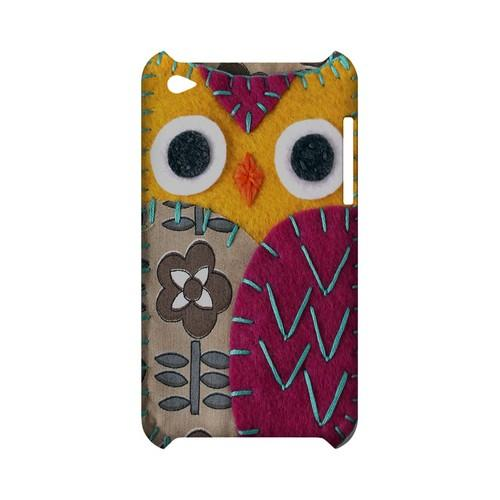 Yellow/ Purple Owl Geek Nation Program Exclusive Jodie Rackley Series Hard Case for Apple iPod Touch 4