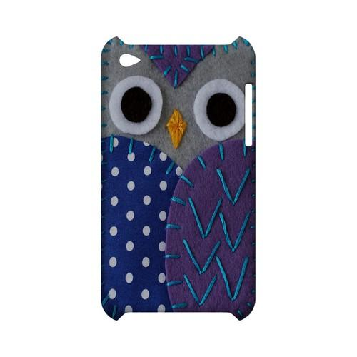 Gray/ Purple Owl Geek Nation Program Exclusive Jodie Rackley Series Hard Case for Apple iPod Touch 4