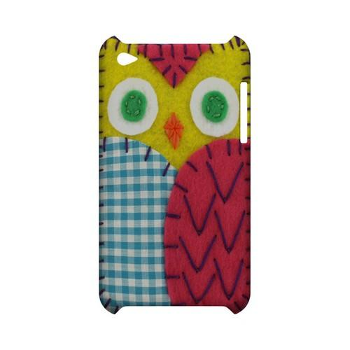 Yellow/ Maroon Owl Geek Nation Program Exclusive Jodie Rackley Series Hard Case for Apple iPod Touch 4