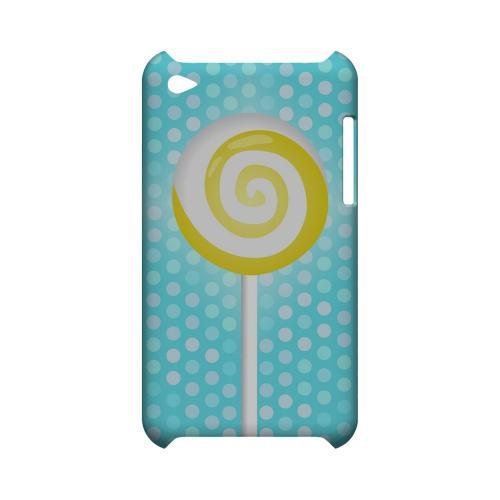Yellow Lollipop Geeks Designer Line Candy Series Slim Hard Back Cover for Apple iPod Touch 4