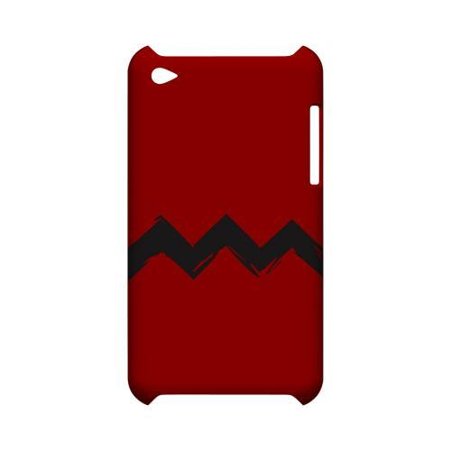 Red Good Grief! Geeks Designer Line Zig Zag Series Slim Hard Case for Apple iPod Touch 4