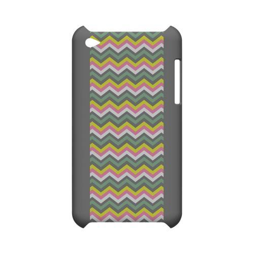 Pink/ Yellow/ Gray/ Green Geeks Designer Line Zig Zag Series Slim Hard Case for Apple iPod Touch 4