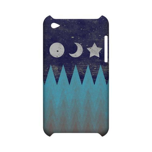 Sun Moon Star Geeks Designer Line Zig Zag Series Slim Hard Case for Apple iPod Touch 4