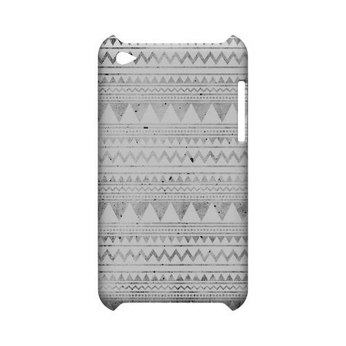 Grungy Triangles Geeks Designer Line Zig Zag Series Slim Hard Case for Apple iPod Touch 4