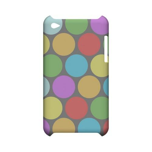 Big & Rainbow on Gray Geeks Designer Line Polka Dot Series Slim Hard Case for Apple iPod Touch 4