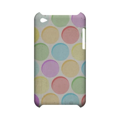 Grungy & Rainbow Geeks Designer Line Polka Dot Series Slim Hard Case for Apple iPod Touch 4