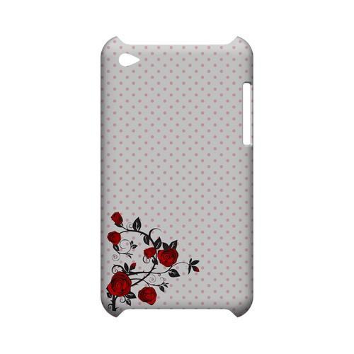 Rose Vine Geeks Designer Line Polka Dot Series Slim Hard Case for Apple iPod Touch 4