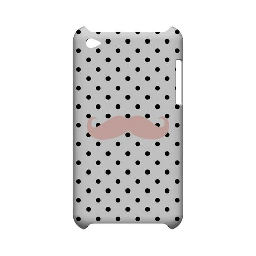 Pink Stache Geeks Designer Line Polka Dot Series Slim Hard Case for Apple iPod Touch 4