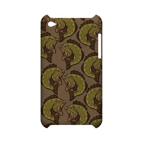 Large Mouth Bass Design - Geeks Designer Line (GDL) Fish Series Hard Back Cover for Apple iPod Touch 4