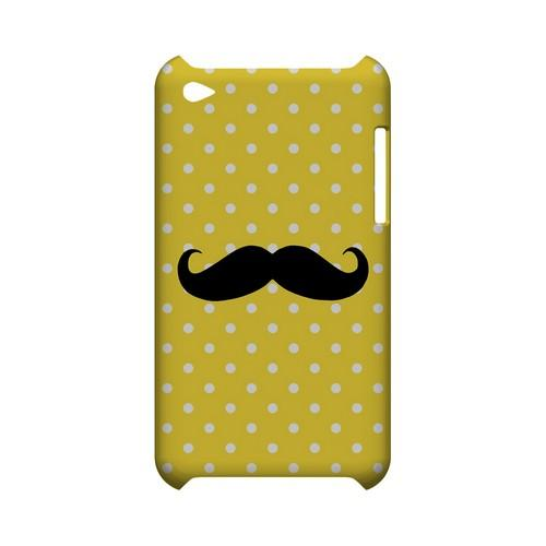 Stache on Yellow Geeks Designer Line Polka Dot Series Slim Hard Case for Apple iPod Touch 4
