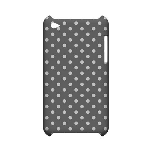 White Dots on Gray Geeks Designer Line Polka Dot Series Slim Hard Case for Apple iPod Touch 4