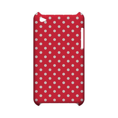 White Dots on Red Geeks Designer Line Polka Dot Series Slim Hard Case for Apple iPod Touch 4