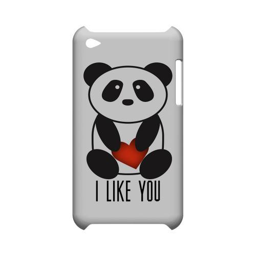 I Like You Panda Geeks Designer Line Heart Series Slim Hard Case for Apple iPod Touch 4