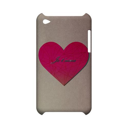 Je t'aime Geeks Designer Line Heart Series Slim Hard Case for Apple iPod Touch 4