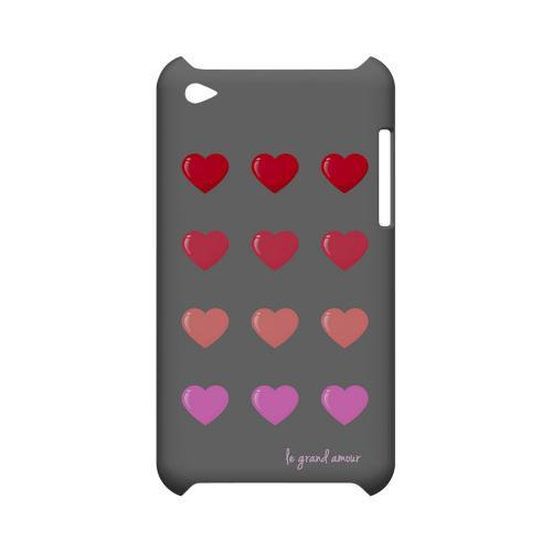 Le Grand Amour Geeks Designer Line Heart Series Slim Hard Case for Apple iPod Touch 4
