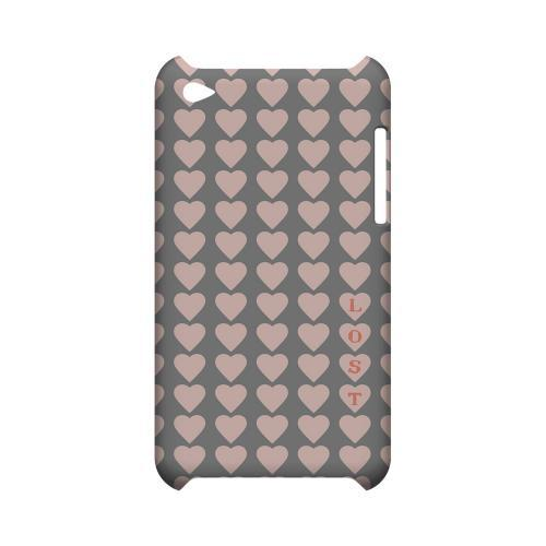 Lost in Love Geeks Designer Line Heart Series Slim Hard Case for Apple iPod Touch 4