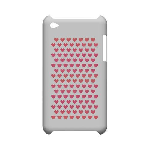 Miniature Hearts Geeks Designer Line Heart Series Slim Hard Case for Apple iPod Touch 4