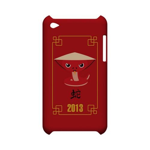 Chibi Snake Geeks Designer Line Chinese Horoscope Series Slim Hard Case for Apple iPod Touch 4