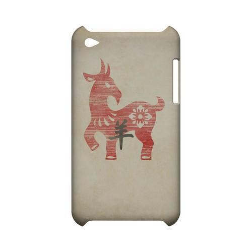 Grunge Sheep Geeks Designer Line Chinese Horoscope Series Slim Hard Case for Apple iPod Touch 4
