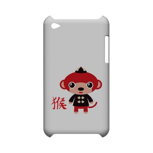 Monkey on White Geeks Designer Line Chinese Horoscope Series Slim Hard Case for Apple iPod Touch 4