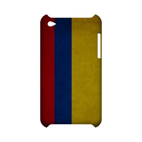 Grunge Columbia Geeks Designer Line Flag Series Slim Hard Case for Apple iPod Touch 4