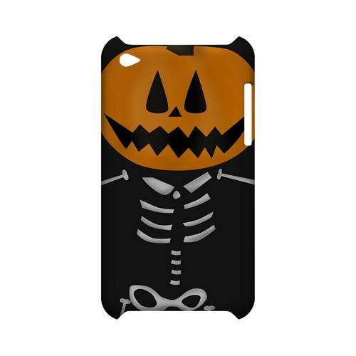 Skeleton w/Jack O' Lantern Head - Geeks Designer Line (GDL) Monster Mash Series Hard Back Cover for Apple iPod Touch 4