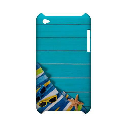 Decked Out Geeks Designer Line Beach Series Slim Hard Case for Apple iPod Touch 4