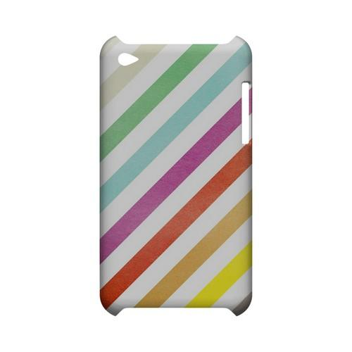Dirty Diagonal Multi-Color - Geeks Designer Line Stripe Series Hard Case for Apple iPod Touch 4