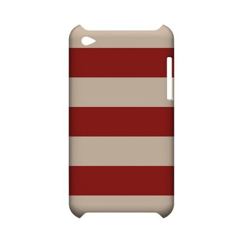 Linen Poppy Red - Geeks Designer Line Stripe Series Hard Case for Apple iPod Touch 4
