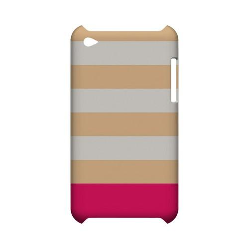 Pink Candy Stripes w/ Pink Bar - Geeks Designer Line Stripe Series Hard Case for Apple iPod Touch 4