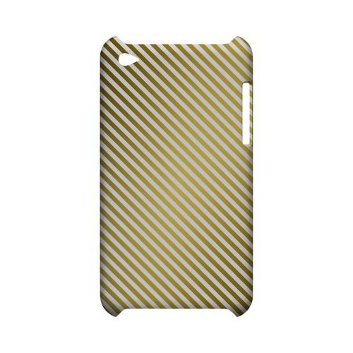 Thin Golden Diagonal - Geeks Designer Line Stripe Series Hard Case for Apple iPod Touch 4