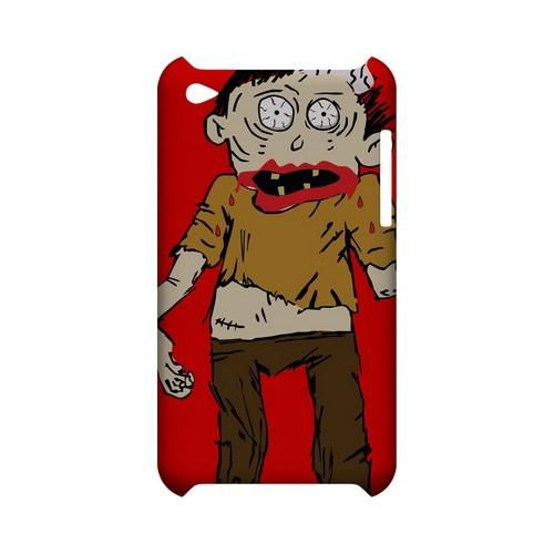 Zombie on Red - Geeks Designer Line (GDL) Monster Mash Series Hard Back Cover for Apple iPod Touch 4