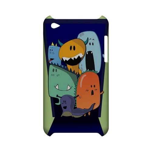 ZORGBLATS on Purple - Geeks Designer Line (GDL) Monster Mash Series Hard Back Cover for Apple iPod Touch 4