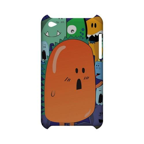 ZORGBLATS Orange Moob Close-Up - Geeks Designer Line (GDL) Monster Mash Series Hard Back Cover for Apple iPod Touch 4