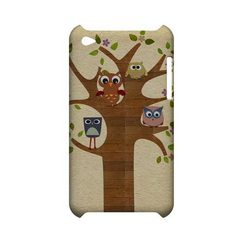 Owls on Brown Tree - Geeks Designer Line (GDL) Owl Series Hard Back Cover for Apple iPod Touch 4