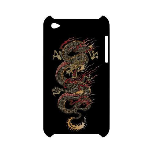 Dragon on Black - Geeks Designer Line Tattoo Series Hard Case for Apple iPod Touch 4