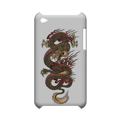 Dragon on White - Geeks Designer Line Tattoo Series Hard Case for Apple iPod Touch 4
