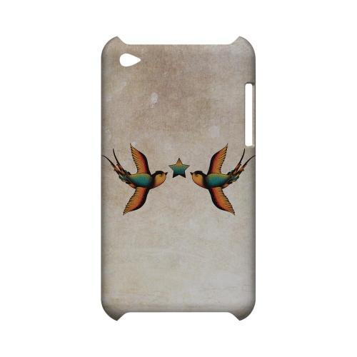 Dual Swallow Star - Geeks Designer Line Tattoo Series Hard Case for Apple iPod Touch 4