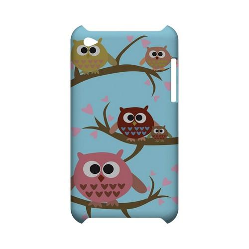 Round Owl Hangout - Geeks Designer Line (GDL) Owl Series Hard Back Cover for Apple iPod Touch 4
