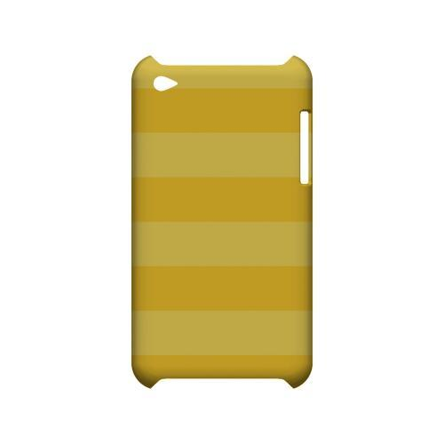 Stripes Lemon Zest - Geeks Designer Line Pantone Color Series Hard Case for Apple iPod Touch 4